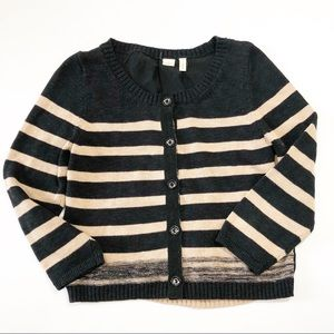 Anthropologie Moth Mixed Materials Cardigan